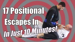 17 BJJ Positional Escapes In 10 Min – Mount & Back Mount – Jason Scully