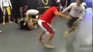 Marcelo Garcia training takedowns with Johny Hendricks