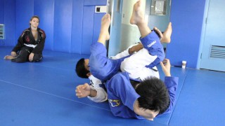 DRILL: Butterfly Guard Leg Weave with Back Take and Calf Slicer