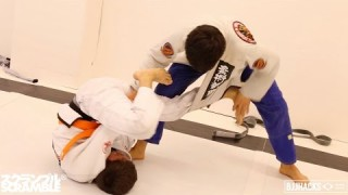 Paulo Miyao Rolls with Super Tough 14yo Orange Belt || In the Gym with BJJ Hacks