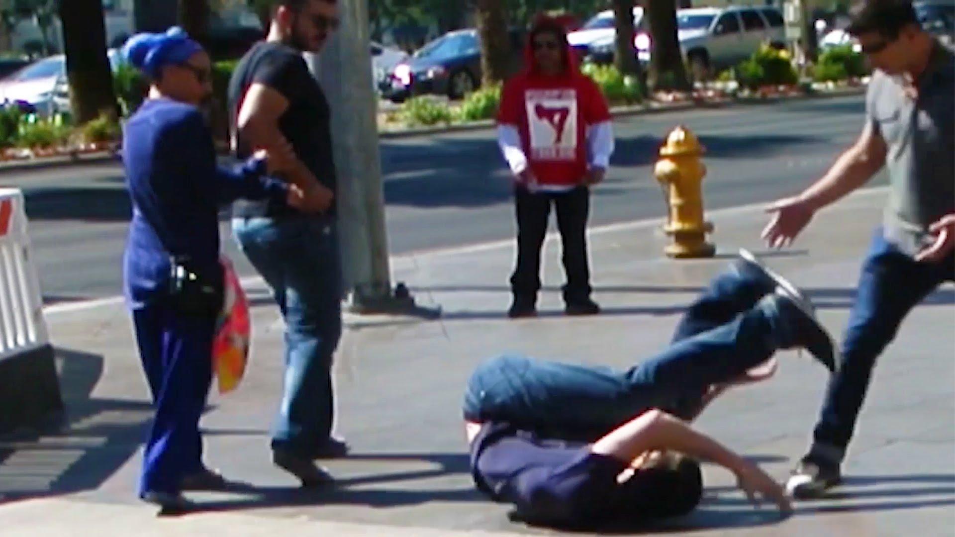 Berimbolo Street Fight Prank!