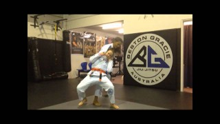 Little Girl Shows a Great Late Defence to the Rear Choke