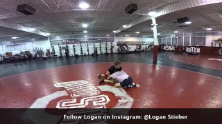 AJ Agazarm Wrestling with 4x NCAA Champ, Logan Stieber