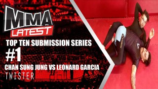 Top 10 Submission Series | #1 – Chan Sung Jung vs. Leonard Garcia | Twister