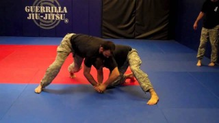 Wrestler and UFC fighter Jon Fitch defends against Knife