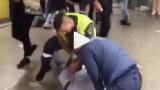 Swedish BJJ Cop Takedown to Kimura