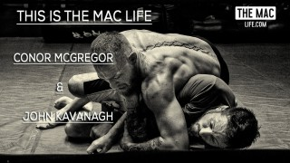 Conor McGregor Rolls with His BJJ instructor John Kavanagh