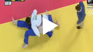Reverse Triangle Choke in the Men's 100KG Olympic Judo competition