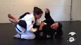 Lapel Choke from Guard – Lana Stefanac