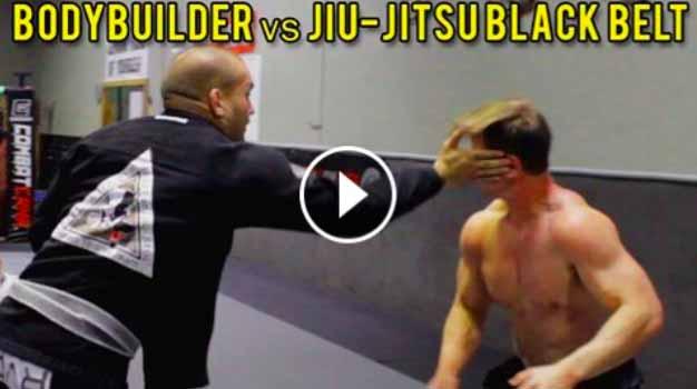 Bodybuilder vs BJJ Black Belt
