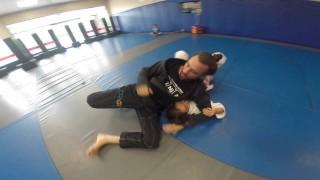 Mike Spiderninja Bidwell working On some Ninja Jits With His Kid!