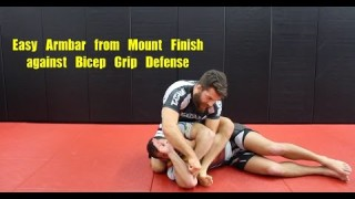 Easy Armbar from Mount against Bicep Grip Defense – Nick Albin
