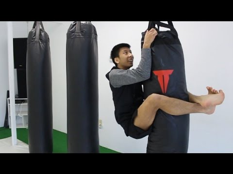 Simple Exercise with Heavy Bag for Stronger Closed Guard