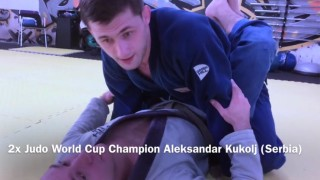 Arm trap guard pass using a lapel –  Aleksandar Kukolj