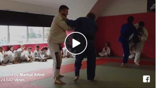 Judo Black Belt vs. BJJ Purple Belt. Friendly sparring…