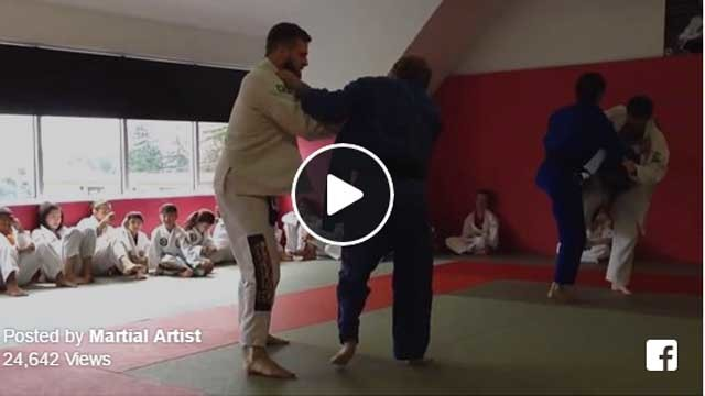 Judo Black Belt vs. BJJ Purple Belt. Friendly sparring…