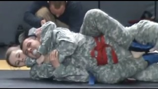 Army Female Fights Male in Combatives Competition (Strikes & Grappling)