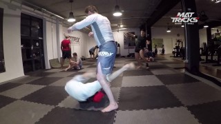 Crazy inverting speed drilling featuring BJJ prodigy Bruno Amaddeo
