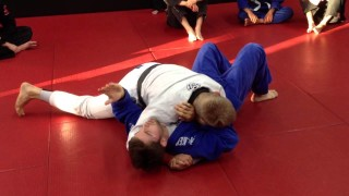 Side control escape against tight top pressure – Nick Albin