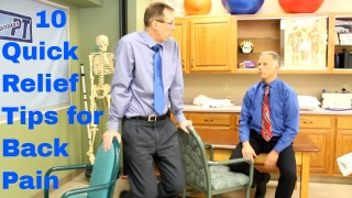 10 Quick Relief Tips for Back Pain by Physical Therapists. Do-It-Yourself