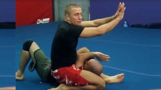 Georges St-Pierre Teaches An Armbar from the top position.