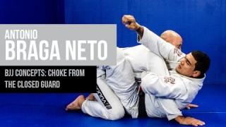 Choke from closed guard – Braga Neto