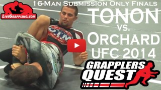 Garry Tonon vs. Nathan Orchard at Grapplers Quest Ultimate Grappler Sub Only 16-Man