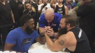 Jon Jones Duels Against Powerlifter Robert Oberst