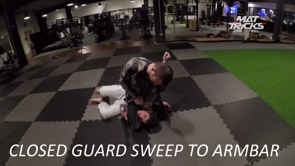 Overhook Sweep from Closed Guard using a Figure 4 Grip