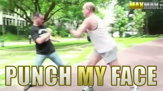 Regular People Try To Punch Pro Boxer in the Face