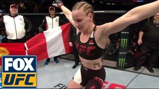 Valentina Shevchenko Dances The 'Lezginka' After UFC fight