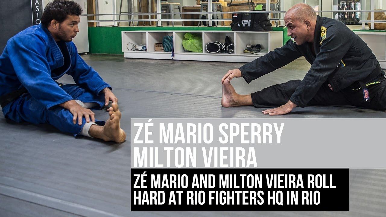 Zé Mario Sperry spars with pupil Milton Vieira
