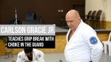 Carlson Gracie Jr teaches grip break with choke in the guard