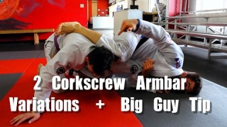 Using the Omaplata for BJJ Armbar (2 Corkscrew Variations)