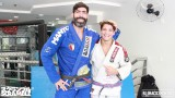 Abraham Marte 115kg black belt rolls with 74kg purple belt