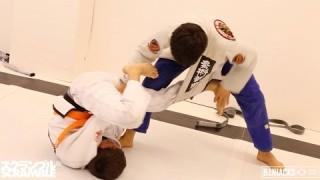 Paulo Miyao Rolls with Super Tough 14yo Orange Belt || In the Gym with BJJ Hacks