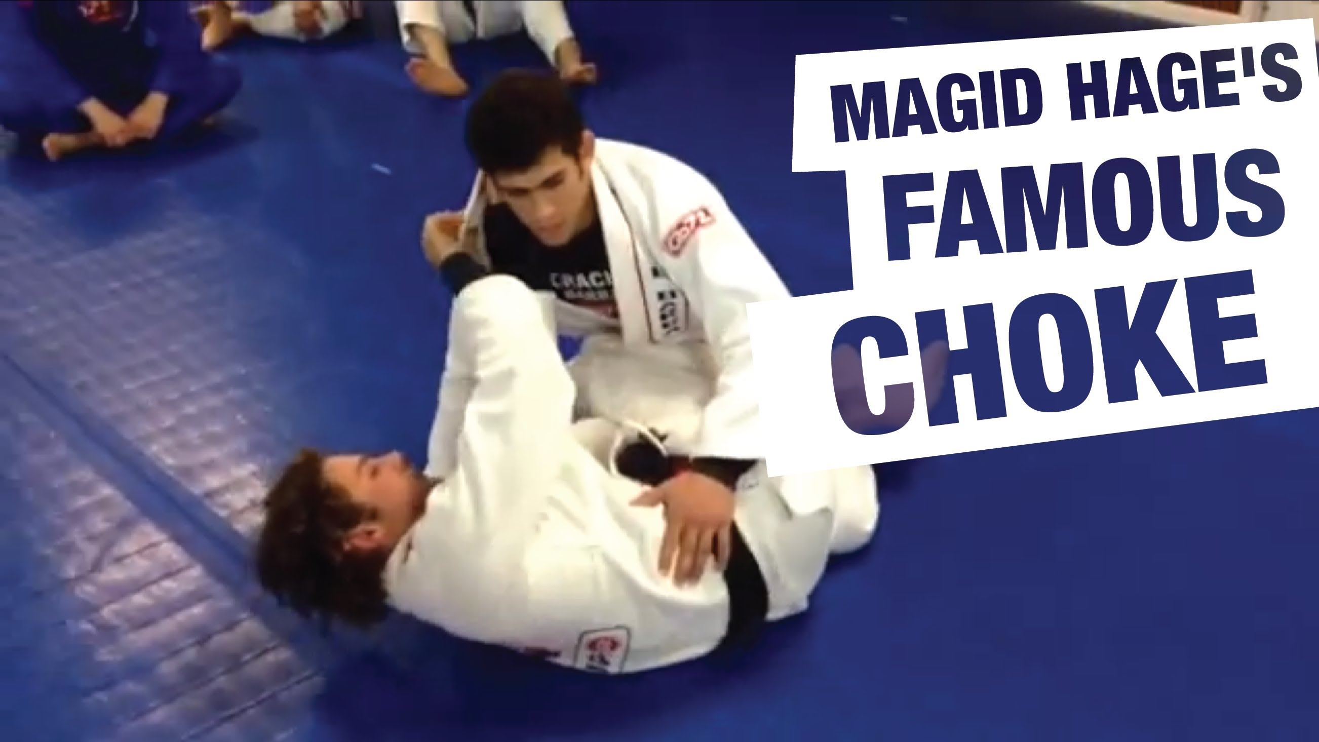 Baseball Choke from Half Guard- Magid Hage