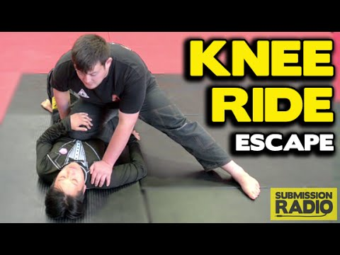 How to ESCAPE a Knee Ride from underneath a HEAVY opponent
