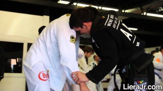 Michael Liera Jr. Drilling Takedowns With Gui Mendes