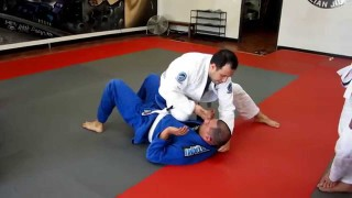Sneaky Cross Collar Choke From Knee On Belly
