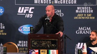 Dana White makes a definitive statement on his thoughts for Aldo talk