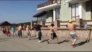 Georgian Judo Team Summer Training with Elastic Bands