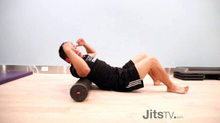 How to Massage Your Upper Back & Neck With A Foam Roller | Dr. Jim Feng
