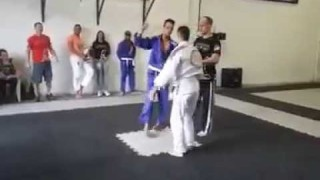 White Belt Wild Flying Armbar in a Tournament!