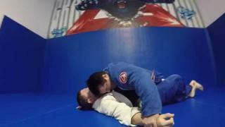 Chael Sonnen (bjj purple belt) rolling in the gi
