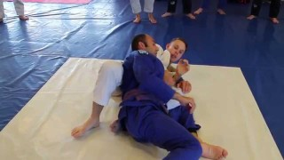 Rolling kimura attacks from top half guard