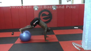 Swiss Ball Core Workout for Grapplers