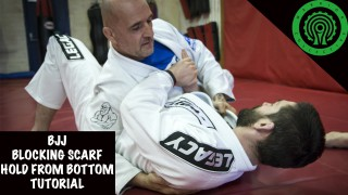 BJJ Blocking Scarf Hold Transition from Bottom Side Control