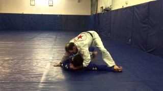 Knee on belly with hand pin