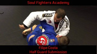 Filipe Costa – Lapel guillotine from the Half Guard